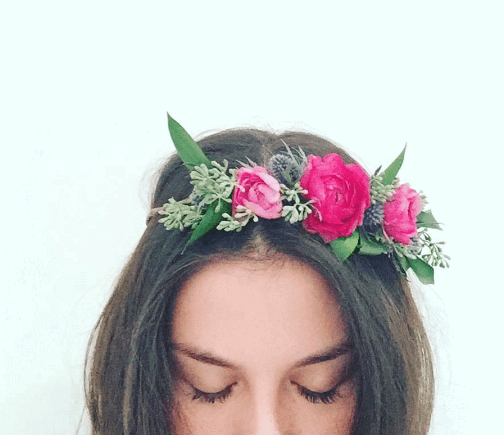 Partial Floral Crown Strawberry Fields Flowers Finds